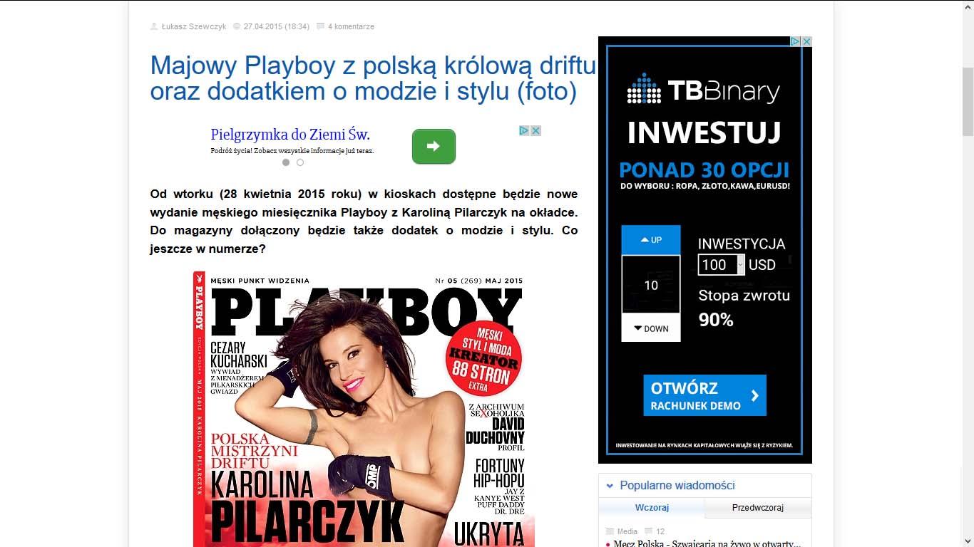 Karolina Pilarczyk - Majowy Playboy z polską królową driftu oraz dodatkiem o modzie i stylu