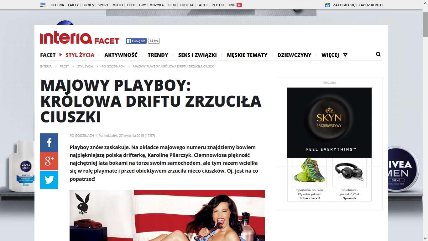 Majowy Playboy: Królowa driftu Karolina Pilarczyk zrzuciła ciuszki