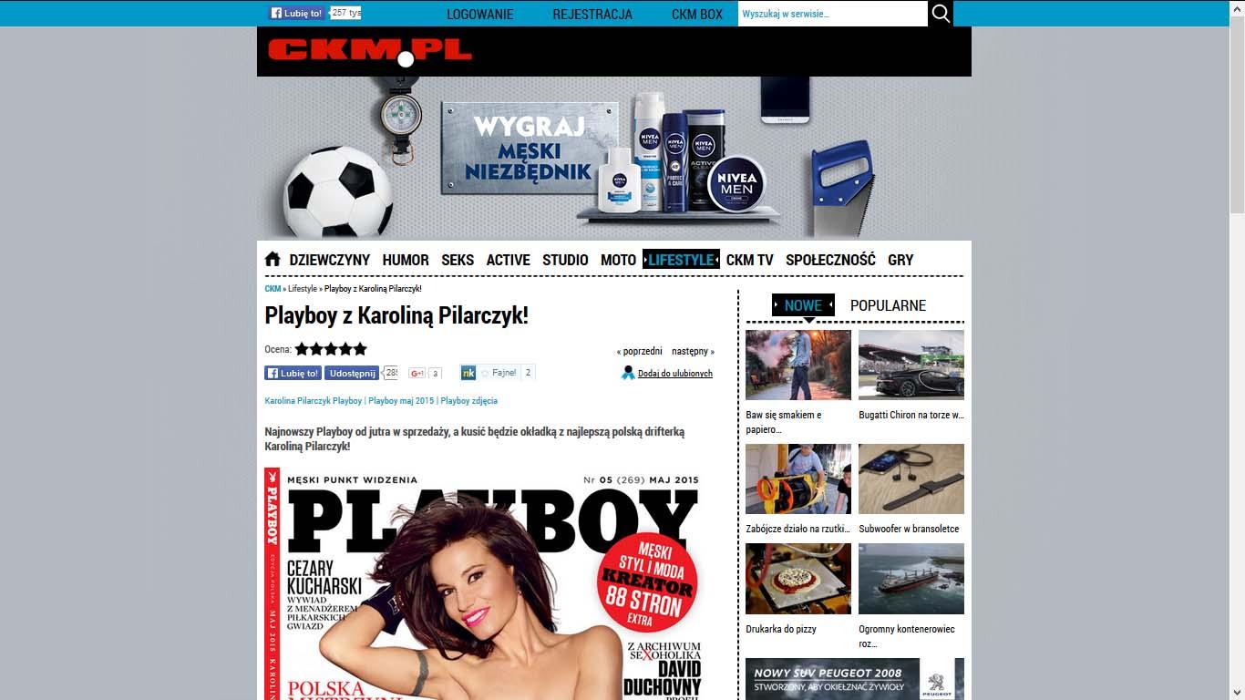 Playboy z Karoliną Pilarczyk!