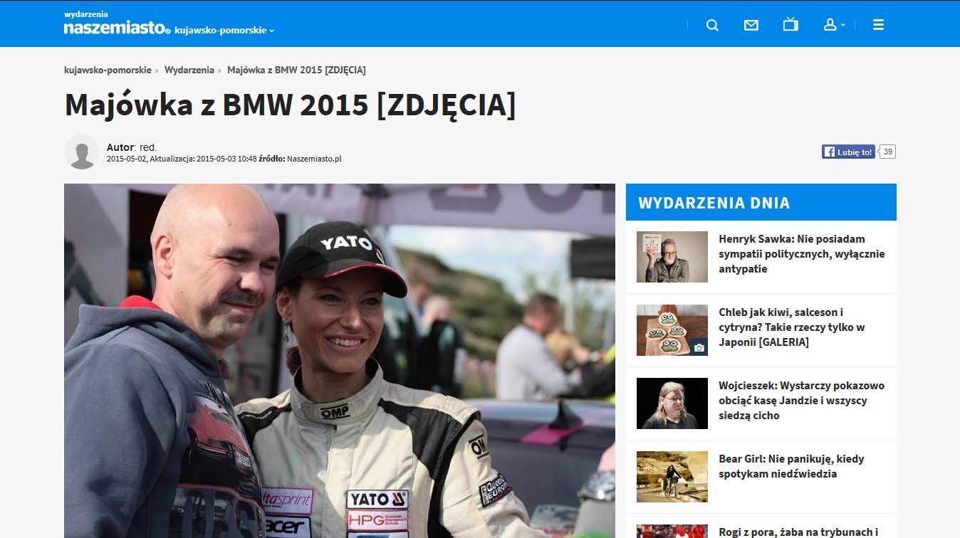 Karolina Pilarczyk - Majówka z BMW 2015