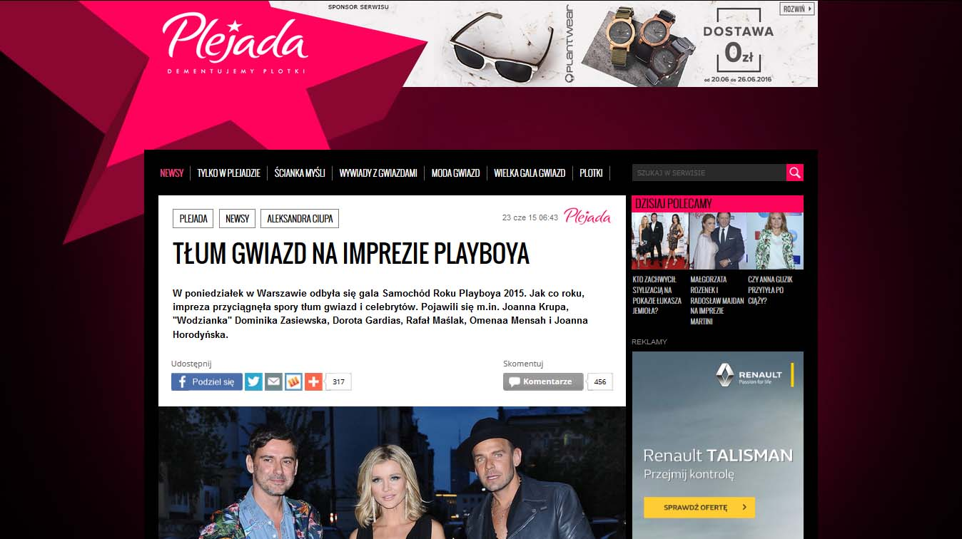 Karolina Pilarczyk na gali Samochód roku Playboya 2015