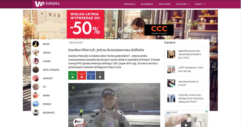 Wirtualna Polska - Karolina Pilarczyk. Jedyna licencjonowana drifterka