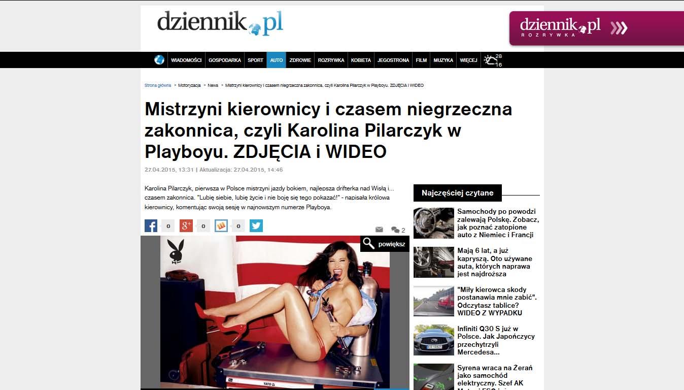 Mistrzyni kierownicy i czasem niegrzeczna zakonnica, czyli Karolina Pilarczyk w Playboyu.