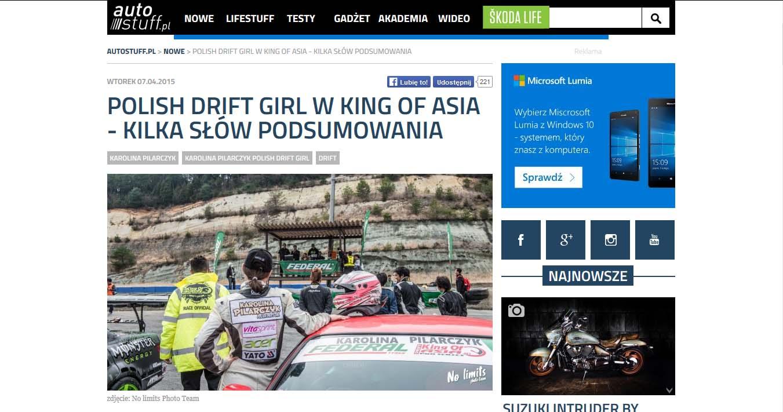 Polish drift girl w King Of Asia - kilka słów podsumowania
