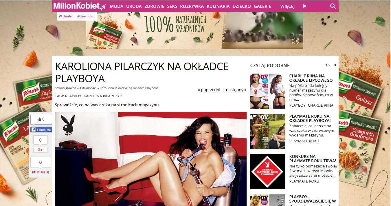 Karolina Pilarczyk na okładce Playboya