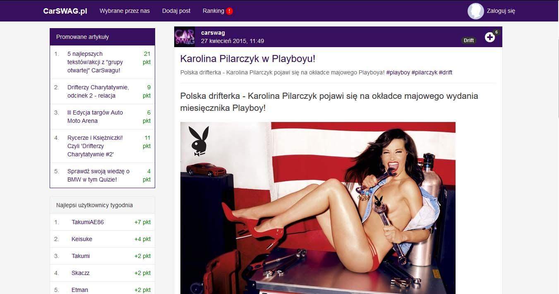 Karolina Pilarczyk w Playboyu!