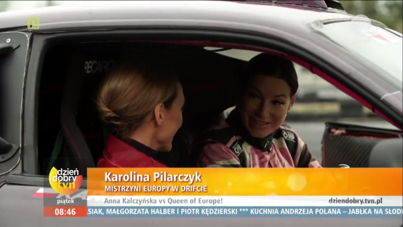 Karolina Pilarczyk w TVN - Dzień Dobry TVN 2016 - Anna Kalczyńska szaleje za kółkiem!