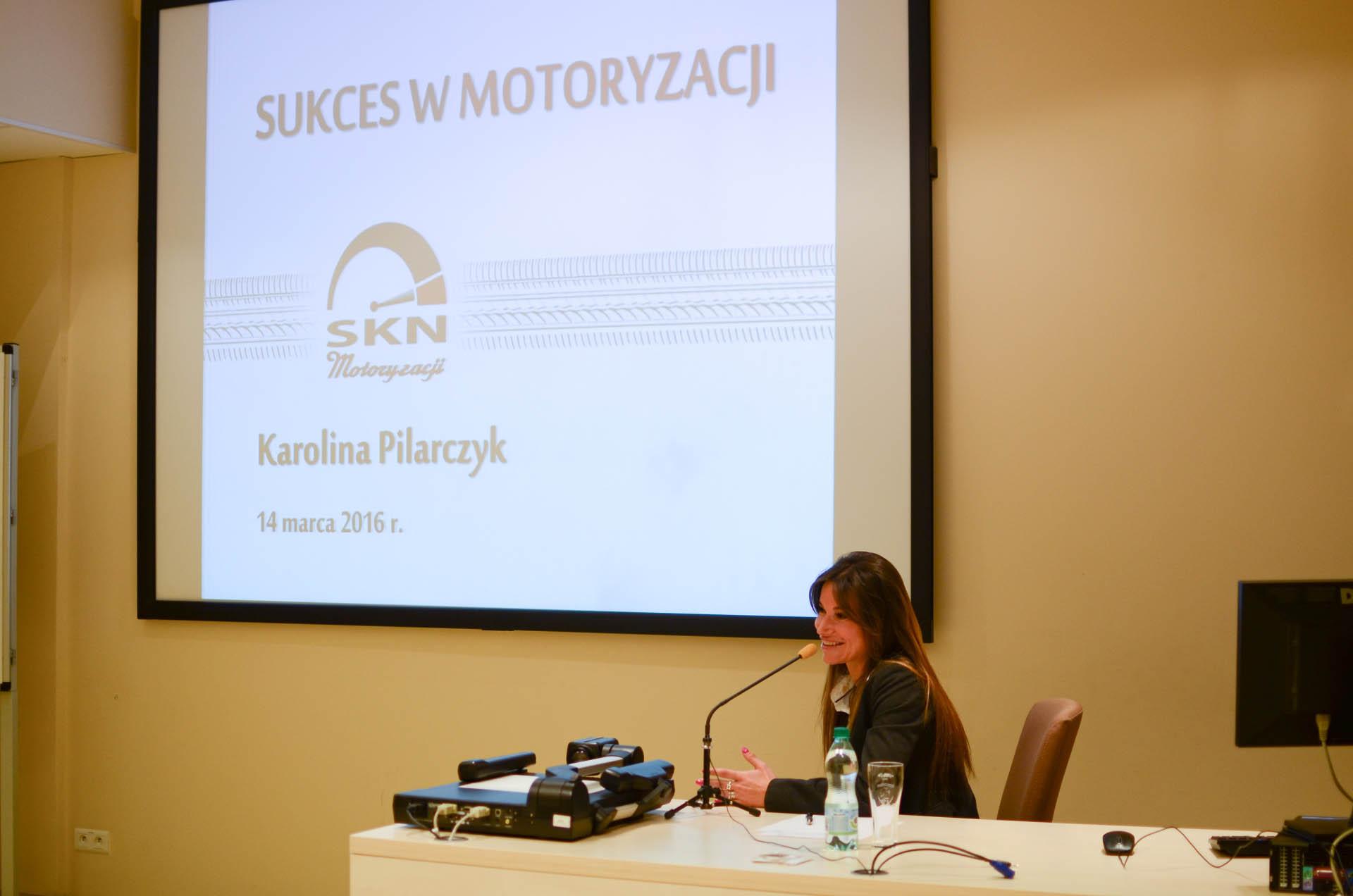 """Karolina Pilarczyk - prezentacja """"Sukces w motoryzacji"""""""