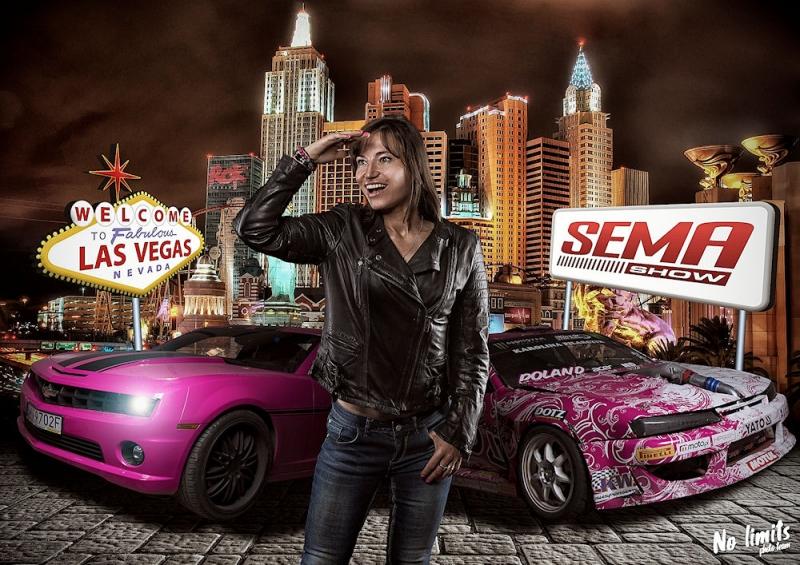Karolina Pilarczyk na targach branżowych SEMA w LAS VEGAS, USA